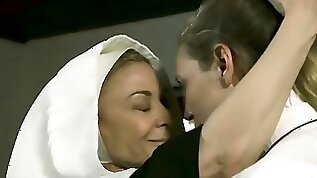 Mature Lesbian Nun Nina Hartley Sins with busty MILF Lover