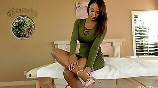 Erotic fucking on the bed with her nice tits ebony girl Harley Dean
