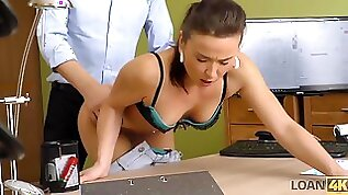 Fraces likes new loan agent so agrees to fuck for money
