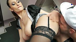 Charming chick Sensual Jane fucks a horny man