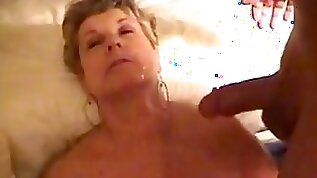 GILF gets jizzed on at two different times!