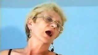 Glasses in semen fuck upside down. Grandma Chloe