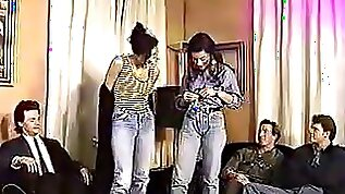 euro orgy session with two sluts in jeans