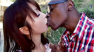 Japanese school girl Marica Hase first time taking bbc
