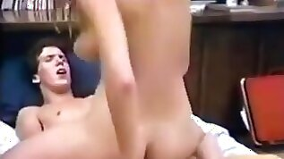 Busty college babe has great sex in dorm room