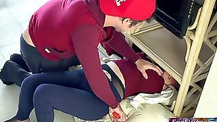 Step mother gets stuck and has with her stepson Erin Electra
