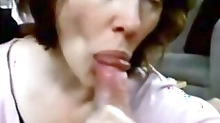 Mother sucks son and swallows his cum