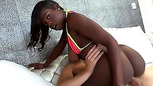 Black babe fucked in many positions