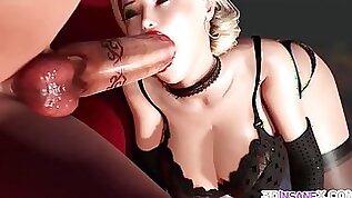 Huge boobs MILF rides immense dildo
