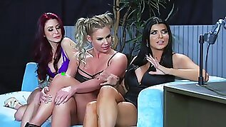 Top women share a big dick in a delightful XXX cam interview