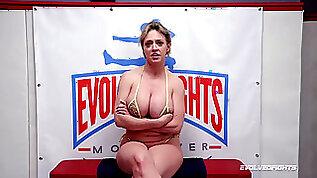 Dee Williams bare wrestling vs a boy sucking a big cock