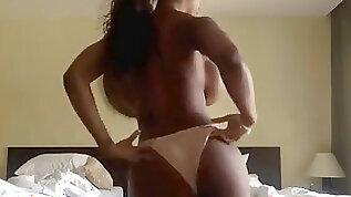 Huge boobed dark hued post surgery
