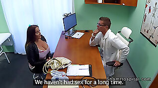 Natural huge tits patient seduces doctor