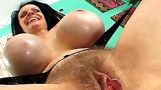 Big tits cum farting cream pies