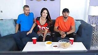 Sneaky sex with Eva Lovia Xander Corvus at super cup ball