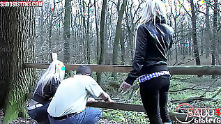 Female domination boots trample femdom