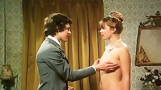 Retro girl gets her pussy fingered and fucked in front of a voyeur