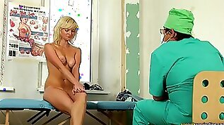 Young Shy Blonde Needs To Undress In The Doctors Cabinet