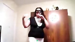 Chubby girl masked as zorro with black huge booty rides and sucks her bf