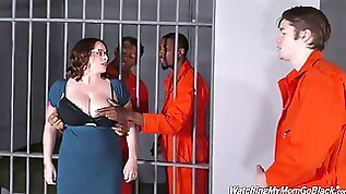 Stunning Michigan busty attorney Maggie Green gets fucked by some prisoners