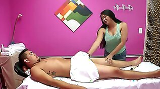 Hidden cam massage turns into sex for cash