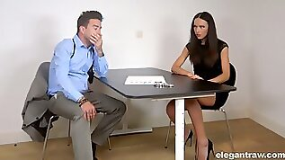 Leggy Nataly Gold gets brutally fucked very hard enough during police questioning