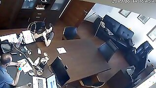 Russian Boss Tears Up Assistant At Office Covert Web Cam