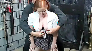 Chubby ginger lady is getting hardcore punishment