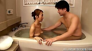 Beautiful Asian cougar with hairy pussy enjoying an awesome doggy style fuck