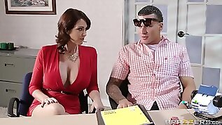 Fucking on the office table with Charlee Chase and Eva Karera