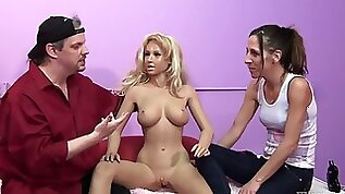 Naughty porn hottie and a horny stud in nasty sex doll and fetish action