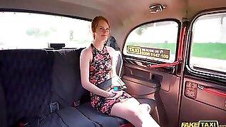 Peeping Cabbie Fucks Skinny Redhead