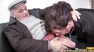 Kinky old fart takes in orgy