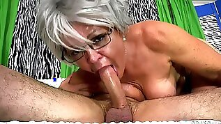 My Chunky Grandmom Gags On Huge Cock Of Lucky Chap