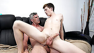 Disrespectful young man is disciplined with dick