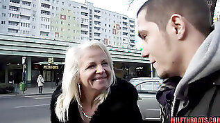My Lustful Grandmother Seduces Youngster