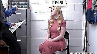 Hot milf Sunny Lane is fucked in mouth and pussy for shoplifting