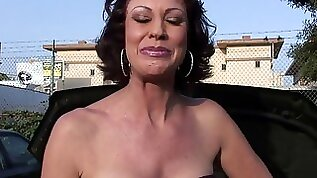 Mature mommy seriously ass fucked throat fucked on camera