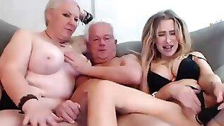 Grandma and Grandpa 3Some Orgy session With Niece amateur sex xozilla porn movies