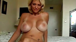 Happy huge breasted blonde wife of my buddy knows how to have fun