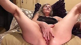 Mature Amateur blonde MILF GILF PAWG Soles Up Hot Pussy Anal Tease Fingers Dildo Vibe Pt.
