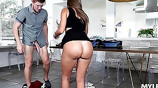 Stepson cannot turn down a woman in need and his stepmom loves a good fuck