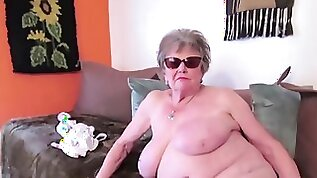 Many closeup details of granny body captured on camera and showed online