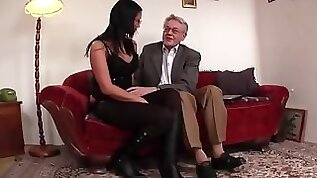 Young girl licked and fucked by old man