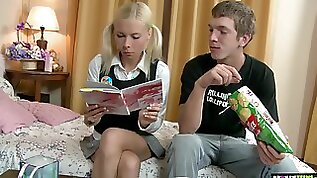 Russian teen Ekaterina allows to penetrate anal hole after a rimjob session