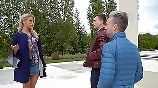 Fantastic gifted Serbian slutty nympho Cherry Kiss works on two fat cocks