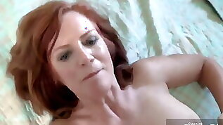Mom fantasy son cums inside her pussy