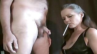 Hot Mature Cougar Smoking Blowjob