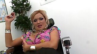 Clothed mature with huge jugs insane porn at the office