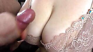 Fucking Relationship Cumshot on big tits